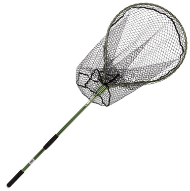 15172 Folding Salmon/Pike Landing Net with Rubber-Mesh